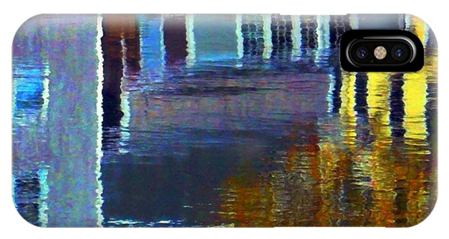 Water IPhone X Case featuring the digital art Rockport Reflections by Dale Ford