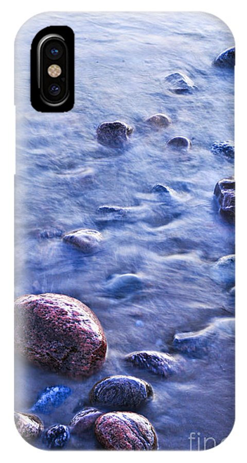 Rock IPhone X Case featuring the photograph Rocks In Water by Elena Elisseeva