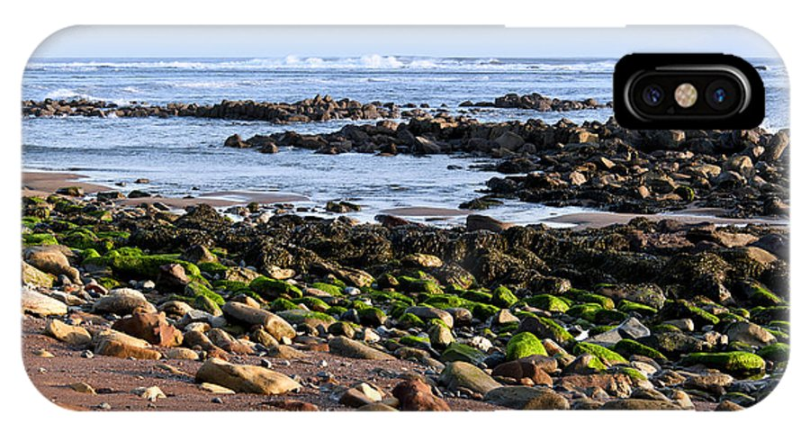 Bay IPhone X Case featuring the photograph Rocky Shore by Svetlana Sewell
