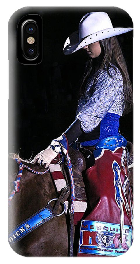 Rodeo IPhone X Case featuring the photograph Rodeo Cowgirl by Elizabeth Hart