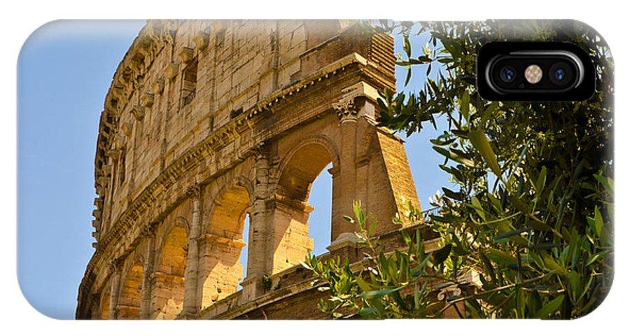 Rome IPhone X Case featuring the photograph Roman Coliseum by Jon Berghoff