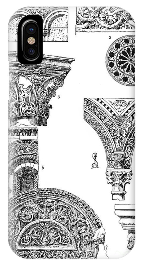 Ancient IPhone X Case featuring the photograph Romanesque Ornament by Granger