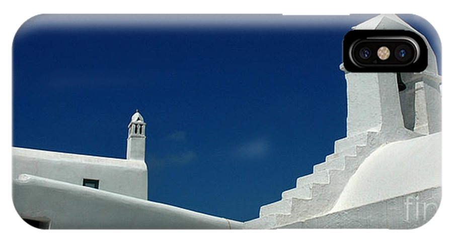 Mykonos IPhone X Case featuring the photograph Rooftops Of Mykonos by Vivian Christopher