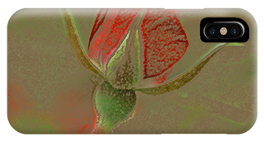 Rose IPhone X Case featuring the photograph Rose With A Texture by Mary Anne Williams