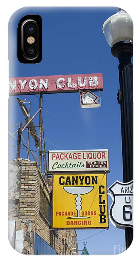 Wurlitzer IPhone X Case featuring the photograph Route 66 Canyon Club by Bob Christopher