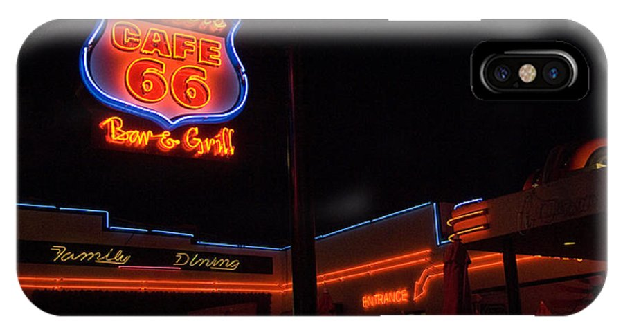 Flames IPhone X Case featuring the photograph Route 66 Cruisers by Bob Christopher