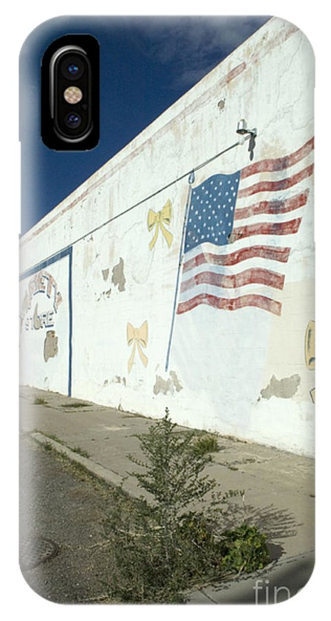 Wall Mural IPhone X Case featuring the photograph Route 66 Wall by Bob Christopher