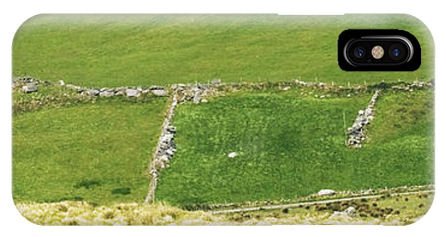 Irleand IPhone X Case featuring the photograph Ruins Of Irish Chieftains House Near Moll Gap Ireland by Larry Pegram