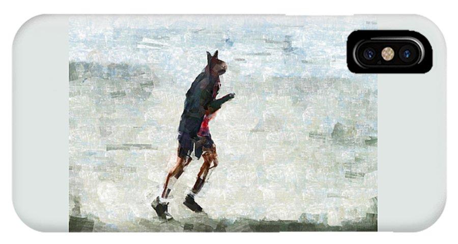 Bionic IPhone X / XS Case featuring the digital art Run Rabbit Run by Steve Taylor