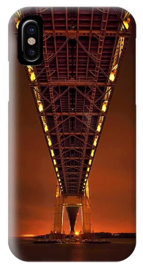 Verrazano IPhone X Case featuring the photograph Run Through The Night by Evelina Kremsdorf