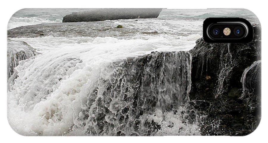 Beach IPhone X Case featuring the photograph Running Water by Karen Harrison