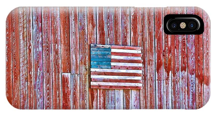 Barn IPhone X Case featuring the photograph Rural Patriot by Deborah Benoit