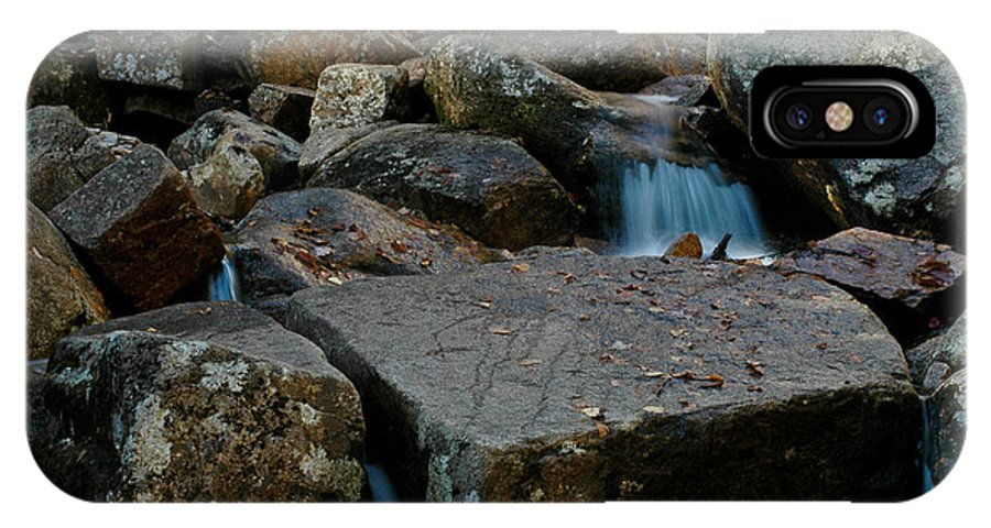 White Mountain National Park IPhone X Case featuring the photograph Rushing Water 1 by Geoffrey Bolte