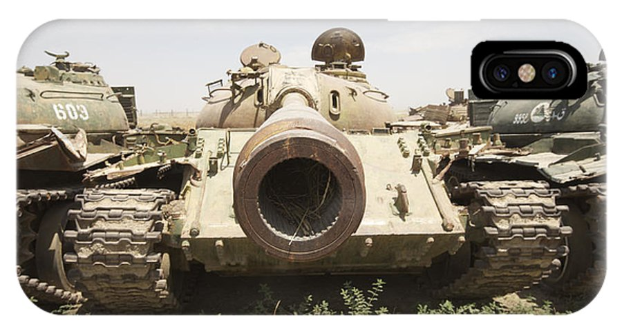 Afghanistan IPhone X Case featuring the photograph Russian T-54 And T-55 Main Battle Tanks by Terry Moore