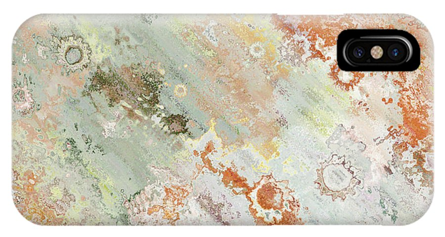 Abstract IPhone X Case featuring the digital art Rustic Impression by Debbie Portwood