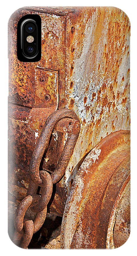 Ore Car IPhone X Case featuring the photograph Rusty Metal by Phyllis Denton