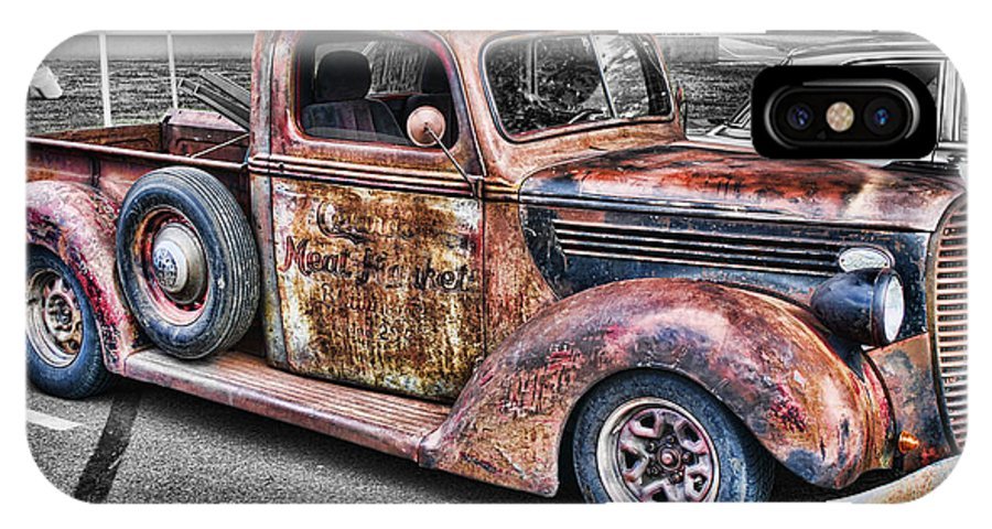 Trucks IPhone X Case featuring the photograph Rusty Old Truck by Randy Harris