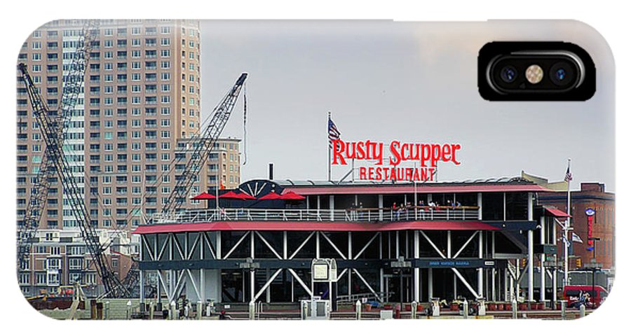 2d IPhone X Case featuring the photograph Rusty Scupper by Brian Wallace