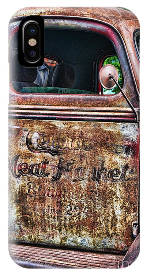 Trucks IPhone X Case featuring the photograph Rusty Truck Door by Randy Harris