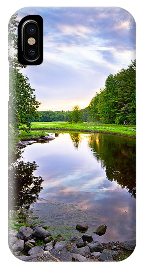 Canon IPhone X Case featuring the photograph Rye Reflections by Robert Clifford