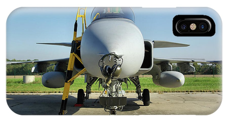 Saab Jas39d Gripen Multi Role Fighter Hungarian Air Force Hungary Nato Days Ostrava Czech Republic September 2011 Aircraft Jet Aeroplane Airplane IPhone X / XS Case featuring the photograph Saab Jas39d Gripen by Tim Beach