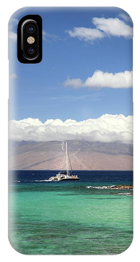 Sailing IPhone X / XS Case featuring the photograph Sailing And Diving Maui by Pierre Leclerc Photography