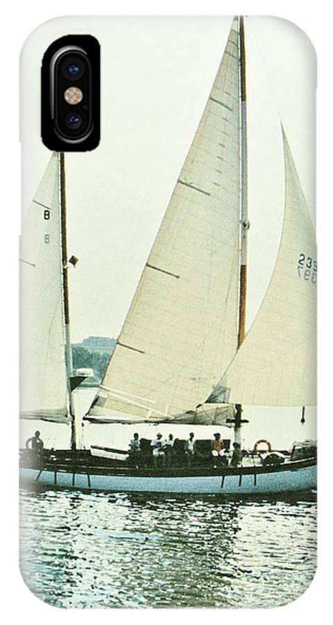 Sail Boat IPhone X Case featuring the photograph Sailing by Ian MacDonald