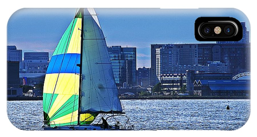 Sailing IPhone X Case featuring the photograph Sailing On Boston Harbor by Joe Faherty