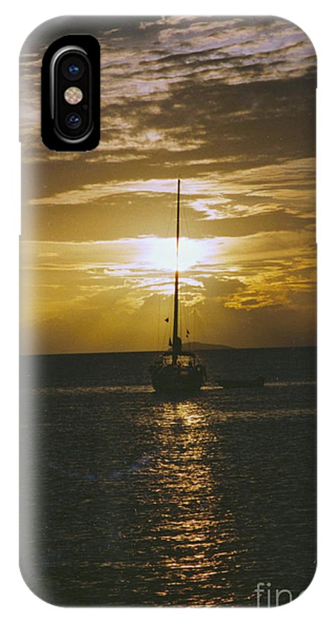 Sunset IPhone X Case featuring the photograph Sailing Sunset by William Norton