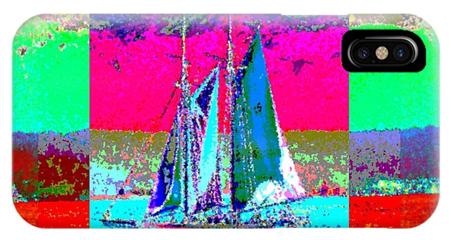Sail IPhone X Case featuring the digital art Sailors Delight 2 by Tim Allen