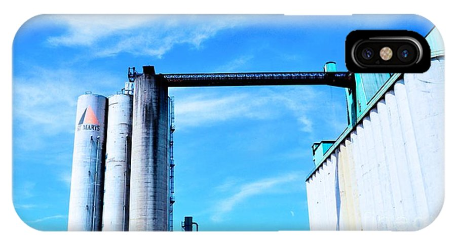 Saint IPhone X Case featuring the photograph Saint Mary's Grain Mill by Kathleen Struckle