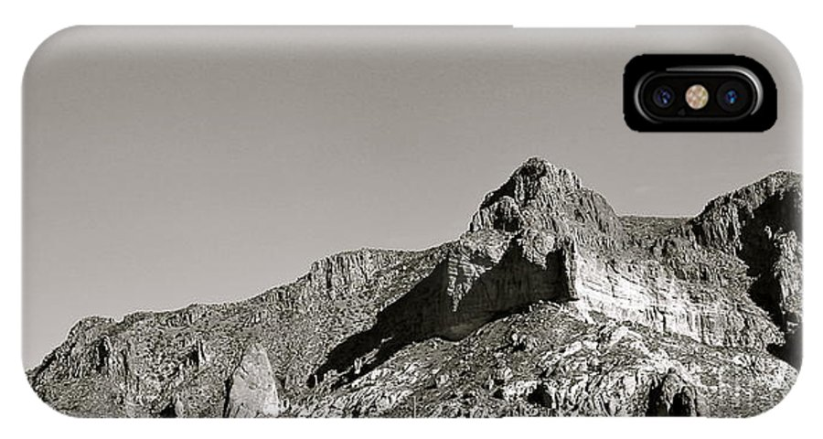 Salt River Canyon IPhone X / XS Case featuring the photograph Salt River Black And White by Pamela Walrath
