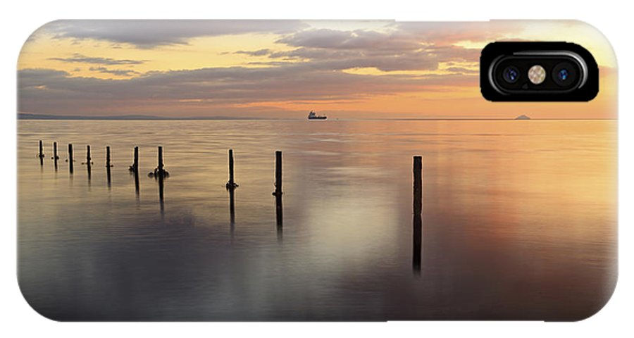 Sunset IPhone X Case featuring the photograph Saltcoats Seascape by Grant Glendinning