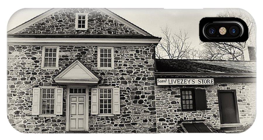 Samuel Livezey's Store IPhone X Case featuring the photograph Samuel Livezey's Store by Bill Cannon