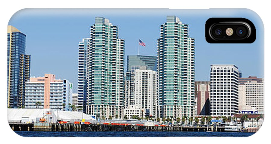 Ocean IPhone X Case featuring the photograph San Diego Skyline by Meagan Suedkamp