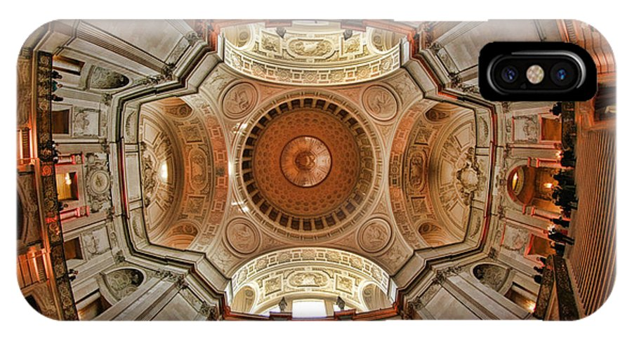 Art Photography IPhone X Case featuring the photograph San Francisco City Hall Ceiling by Blake Richards