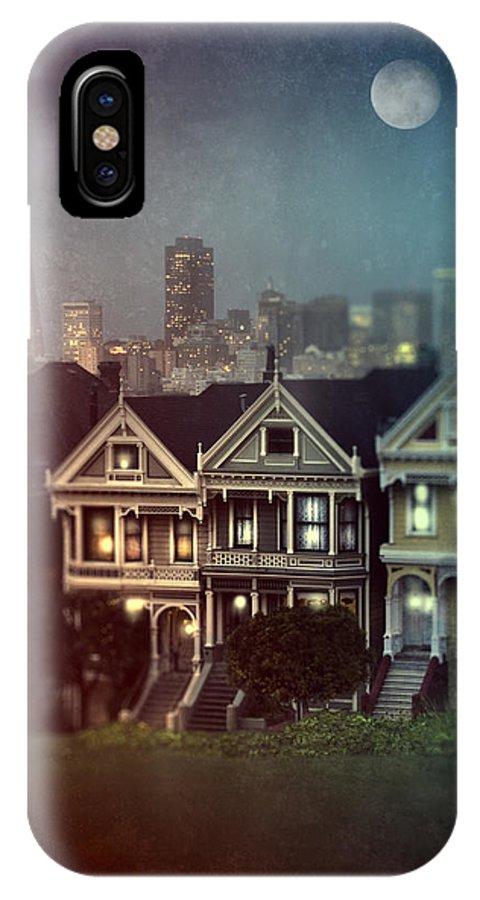 San Francisco IPhone X Case featuring the photograph San Francisco Night by Jill Battaglia