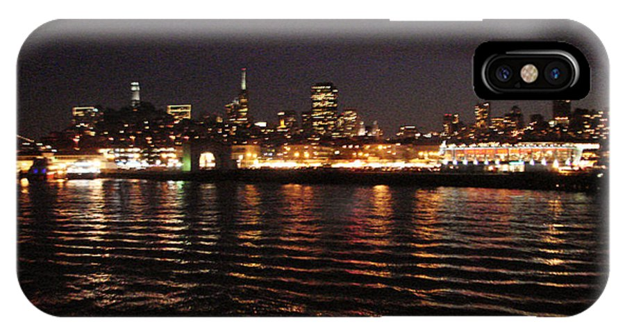 San Francisco Bay IPhone X Case featuring the photograph San Francisco Night View From The Ocean by Hiroko Sakai