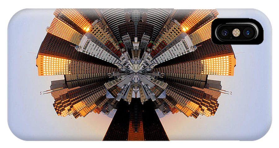 Stereo IPhone X Case featuring the photograph San Francisco Samourai - Stereographic by Cedric Darrigrand
