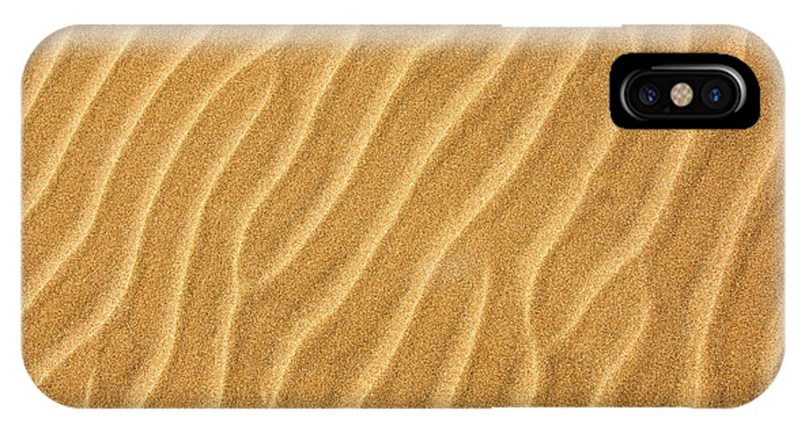 Sand IPhone X Case featuring the photograph Sand Ripples Abstract by Elena Elisseeva