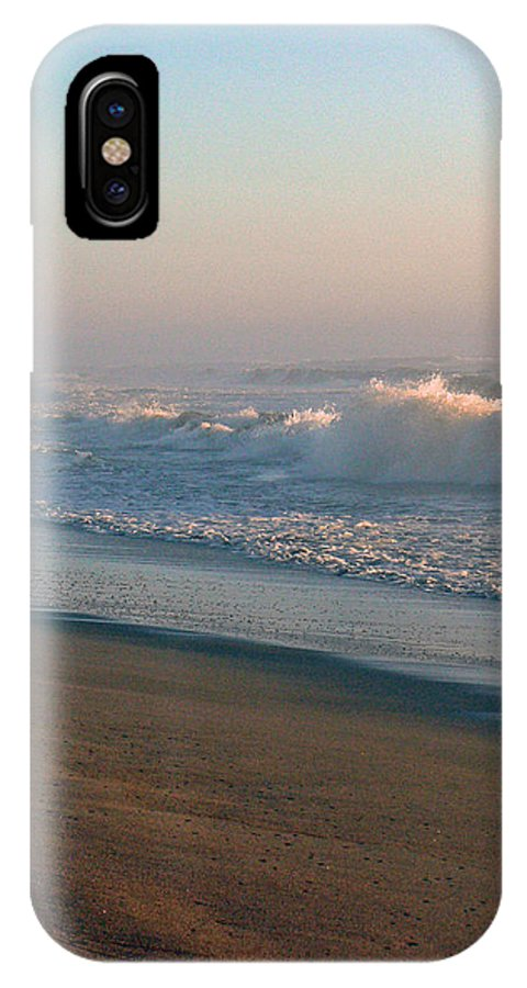 Nature IPhone X Case featuring the photograph Sand Sea And Sky by Pamela Patch