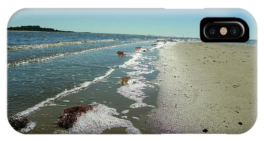 Sandsplit Beach IPhone X / XS Case featuring the photograph Sandsplit Beach Lowtide by Sheri McLeroy