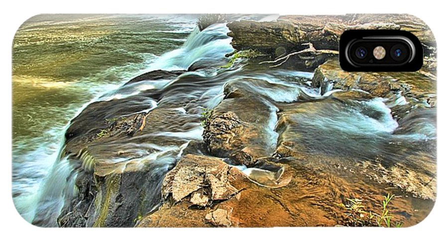 West Virginia Waterfalls IPhone X Case featuring the photograph Sandstone Falls In The New River by Adam Jewell