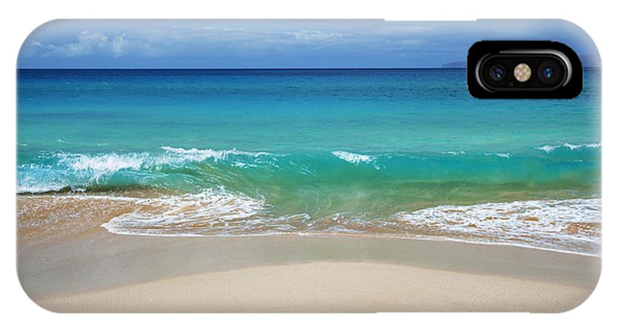 Background IPhone X Case featuring the photograph Sandy Makena Beach by Jenna Szerlag