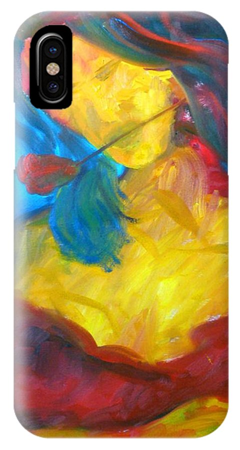 Dancer IPhone X Case featuring the painting Sangria Dreams by Keith Thue