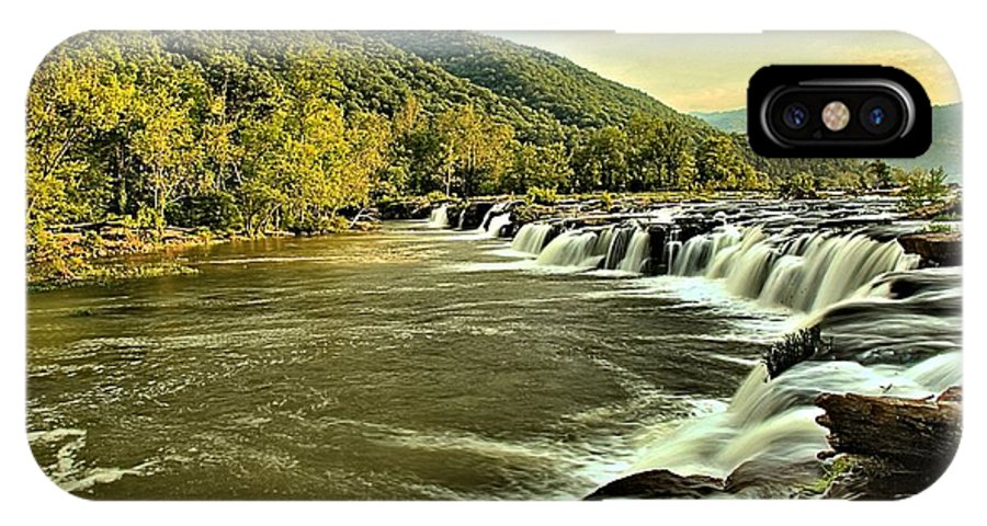 Sandstone Falls IPhone X Case featuring the photograph Sanstone At Dusk by Adam Jewell