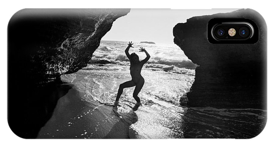 Nude IPhone X Case featuring the photograph Santa Cruz Nude by Mike Penney