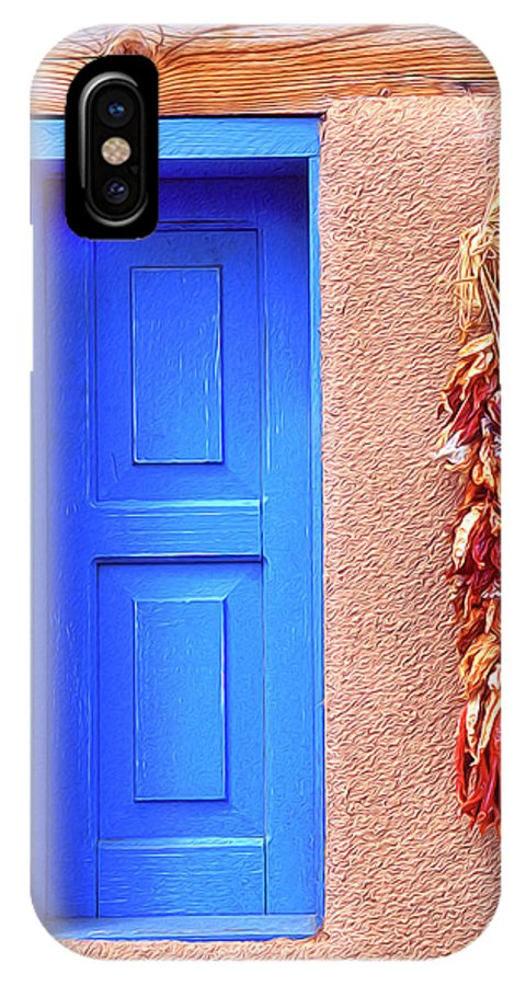 Santa Fe IPhone X Case featuring the photograph Santa Fe Window by Dave Mills