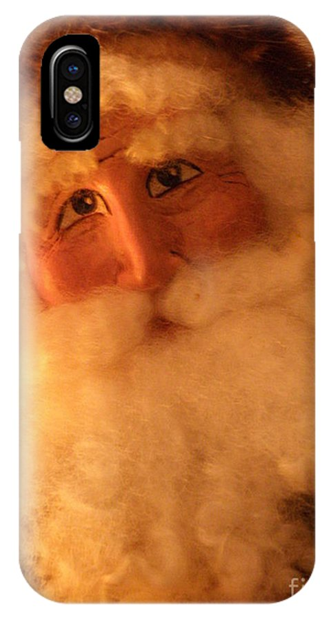 Santa IPhone X Case featuring the photograph Santa by Lainie Wrightson