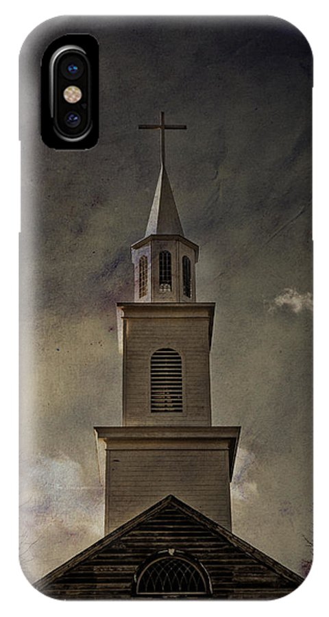 Steeple IPhone X Case featuring the photograph Say A Little Prayer For Me by Trish Tritz